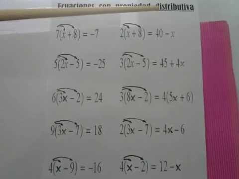 Ecuaciones Con Propiedad Distributiva Propiedad Distributiva Ecuaciones Propiedades