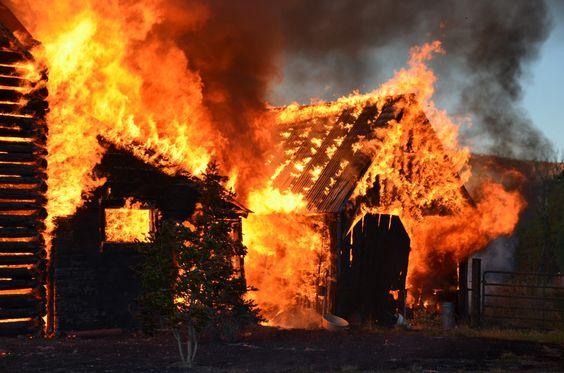 Barn Fire.  Summit County, Utah.