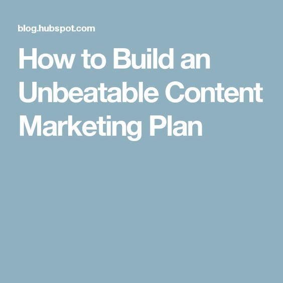 How To Build Marketing And Marketing Plan On