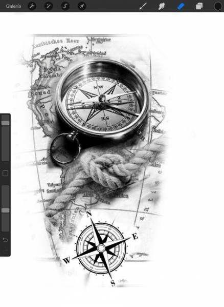 Tattoo Compass Compus 27 Ideas For 2019 Tattoo Compass Compus 27 Ideas For 2019 Tattoo Comp In 2020 Compass Tattoo Design Compass Tattoo Compass And Map Tattoo