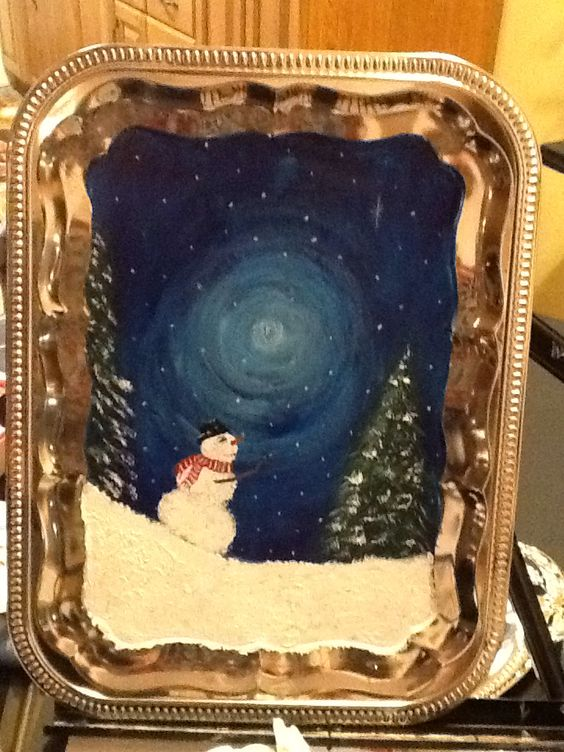 Old trays painted for the season