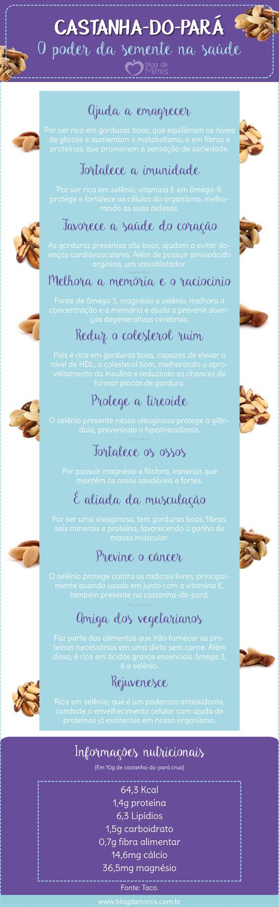 As castanha-do-pará, também conhecida como castanha-do-Brasil, é uma semente típica da região norte do nosso país. Já conhecem? Ela faz parte da seleção das poderosas oleaginosas, sementinhas aliad…