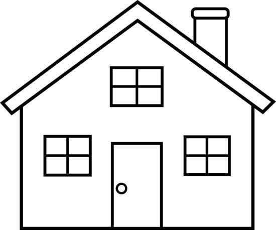 Any simple drawing is good for coloring dictation for Drawings of a house
