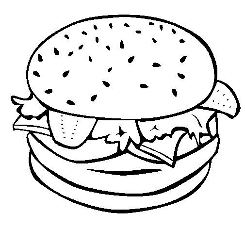 Hamburguesa Para Colorear With Images Coloring Pages Colorful