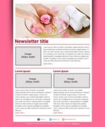Modèles gratuits de newsletter Salon de beauté