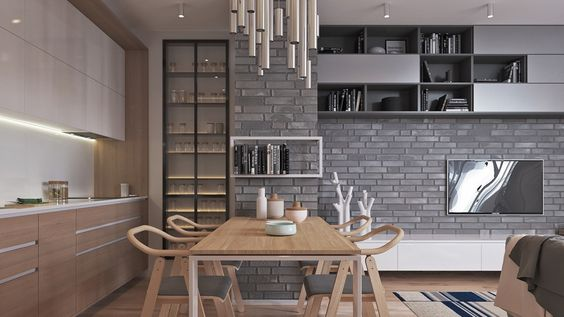 Two muted tone exposed brick pads for young families kitchen pinterest exposed brick bricks and interiors