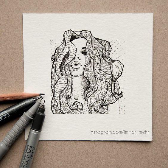 Finished Illustration. Beautiful girl  законченная иллюстрация красотки  #zentangleart #kunst #design #art #girl #sexygirlz #illustration #illustrations #blackwhite #иллюстрация #портрет #дизайн #арт #искусство #рисунок #зентангл #миниатюра by immer_mehr
