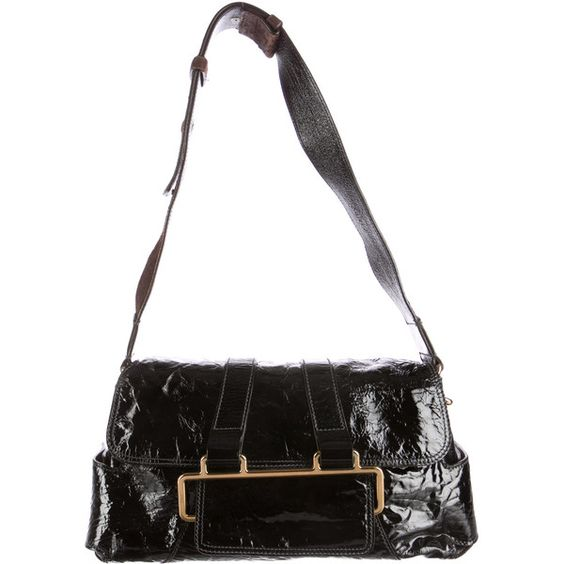 chloe replica handbags - Pre-owned Chloe Patent Leather Shoulder Bag ($200) ? liked on ...