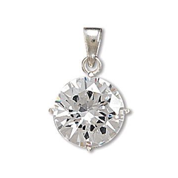 Round CZ Solitaire Pendant – Baubles-N-Bling