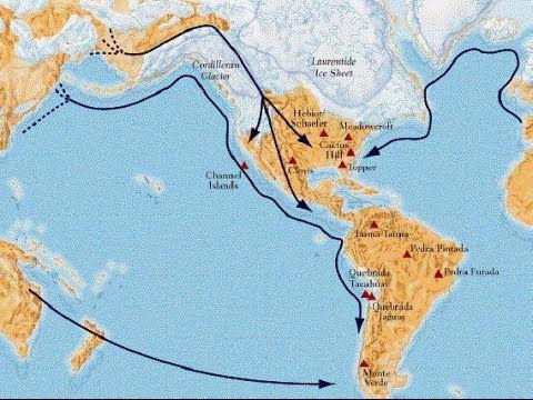 Poblamiento Del Continente Americano Paleolítico Prehistoria Youtube Mapa De America Poblamiento De America Prehistoria