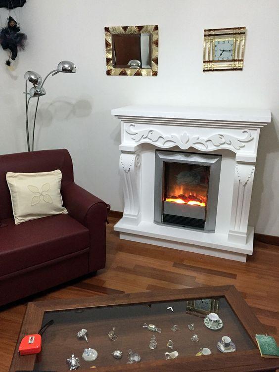 Faux fireplace Finto camino decorativo modello Impero con camino ...
