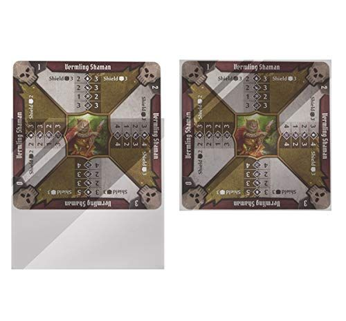 100 Ct Clear Card Sleeves For Monster Stat Sheets From Gloomhaven