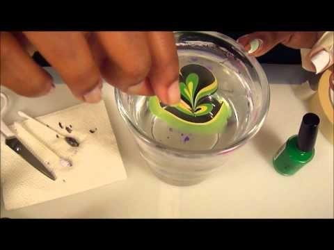 Marble Nail Art Nagellack Muster Kreative Nageldesigns Nagelkunstanleitung
