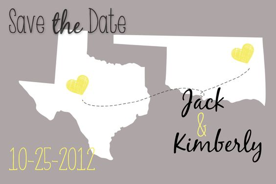 Premade 4x6 Save the Date Cards. $35.00, via Etsy.