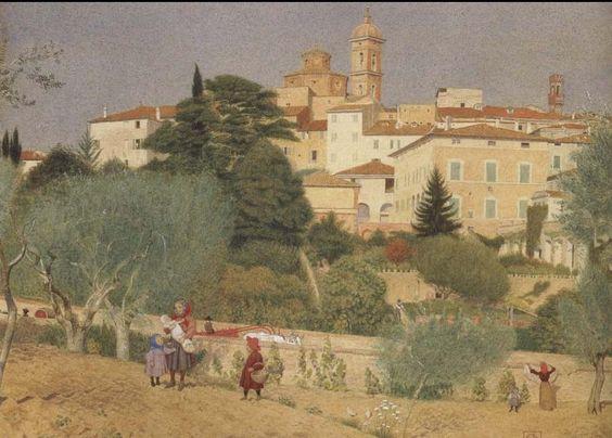 Joseph Edward Southall (1861-1944) — In Tuscany, 1906 (897x644)