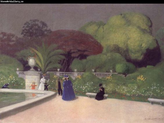 Felix Vallotton The Jardin du Luexmbourg: