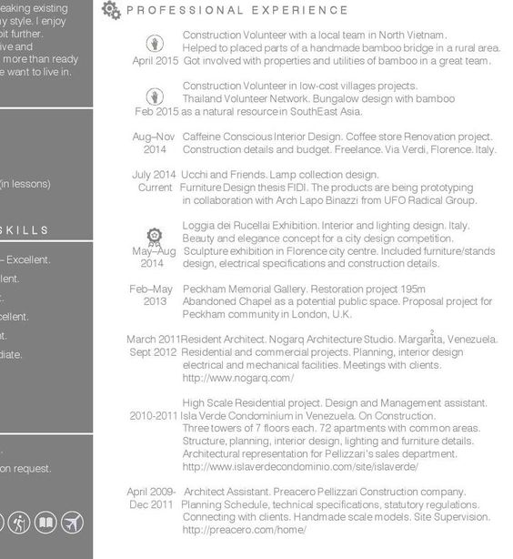 ClippedOnIssuu from Andrea Gonzalez Architect CV CV\/ Resume - product architect sample resume