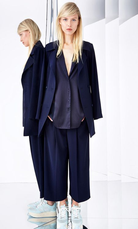 Best Look at DKNY Resort 2015.  More Best Looks Resort 2015.  More Navy Blue Color Trends for Fall Winter 2014.