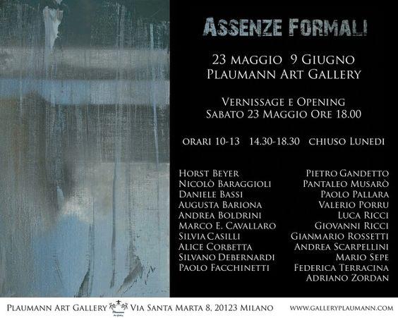 EVENTO MILANO! !! Siete tutti invitati presso la galleria plaumann a due passi dal duomo.... troverete la mia arte astratta..... www.gianmariorossetti.it