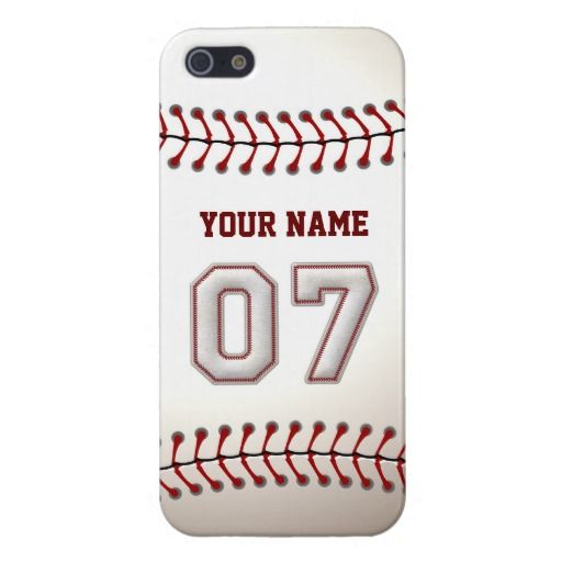 Player Number 7 - Cool Baseball Stitches iPhone 5/5S Cover