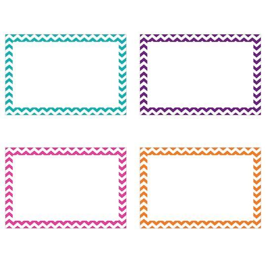 4 X 6 Assorted Chevron Border Blank Index Cards 6 Pack In 2021 Note Card Template Index Cards Chevron Borders