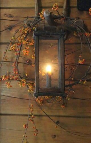 Autumn Cottage Lantern.