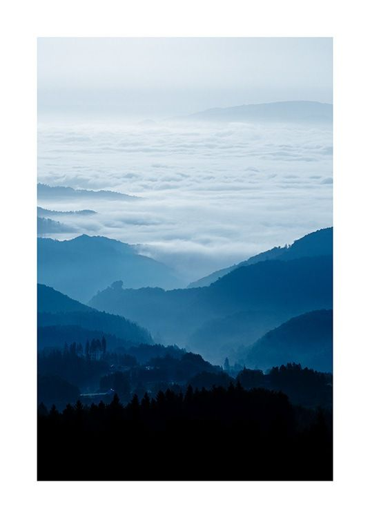 Cloudy Mountains Poster Nature Posters Nature Prints Online Wall Art
