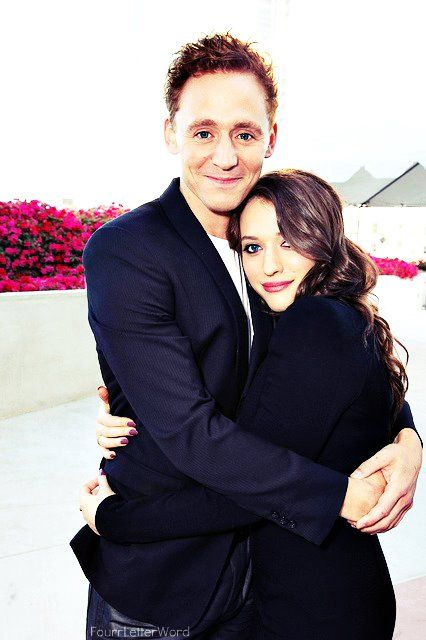 "Tom Hiddleston and Kat Dennings (Darcy Lewis from ""Thor""). Cuz, you know, her best friend got Thor and Loki's even better."