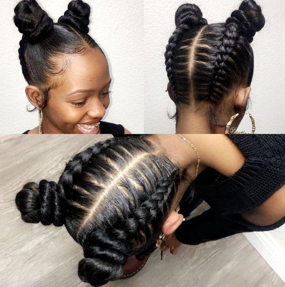 20 Cute Hairstyles For Black Teenage Girls African Braids Hairstyles For Teenagers Natural Hair Styles Hair Styles Kids Hairstyles