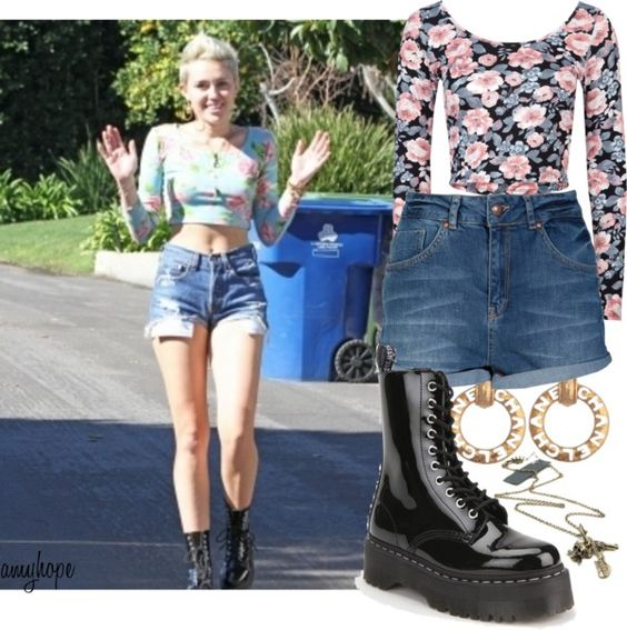 """Miley Cyrus."" by amy-hope ❤ liked on Polyvore"