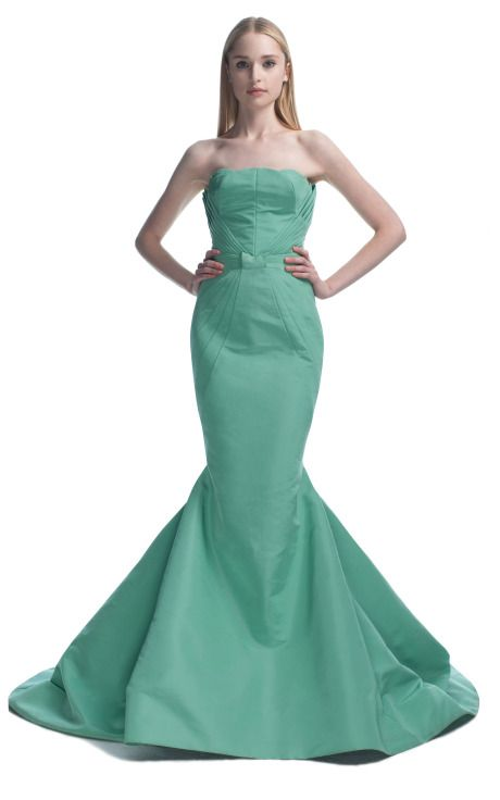 Zac Posen S/S 2013 at Moda Operandi: Celadon Green, Ball Gowns, White Evening Gowns, Mermaid Evening Gown, Celadon Zac, Dresses Gowns
