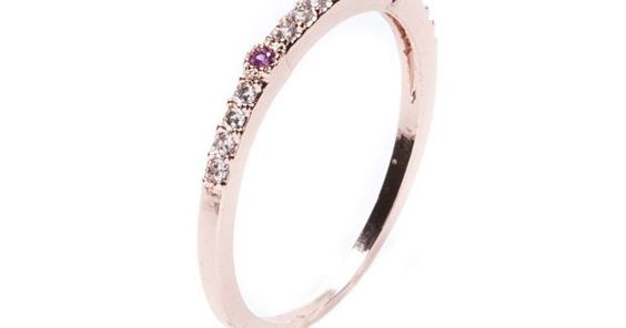 Pink Jewelled Rhinestone Glitter Ring #fashion #style #rosegold #delicatering #rings - 1790  @happinessboutique.com