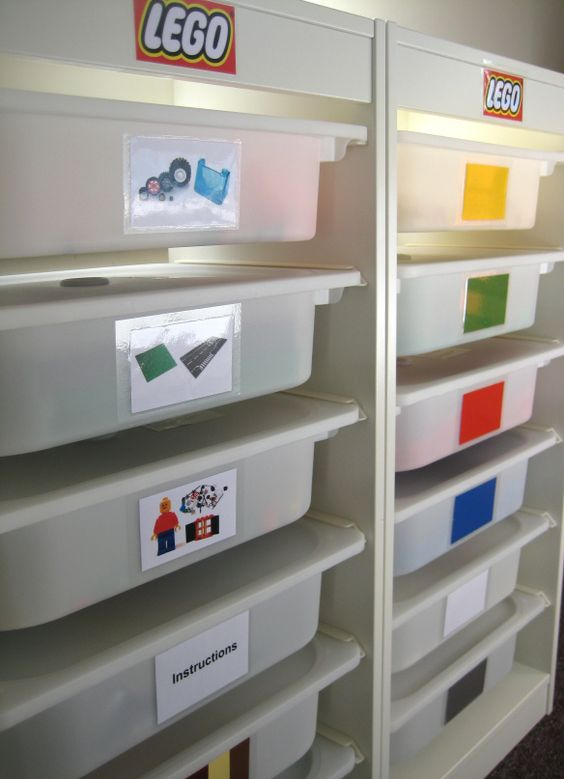 Detailed Lego organization with instructions/tutorial! Awesome.