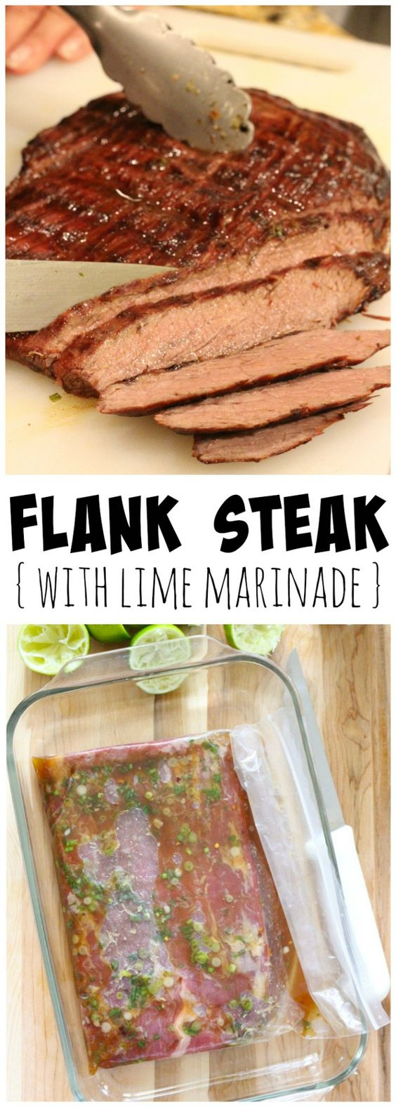 Flank Steak with Lime Marinade | Recipe | Flank Steak, Steaks and ...