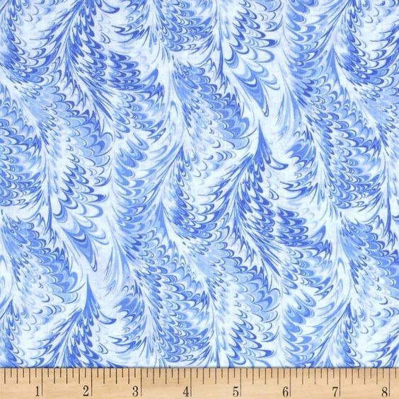 Timeless Treasures Blue Winter Marble Frost Chambray from @fabricdotcom  Designed for Timeless Treasures, this cotton print includes colors of blue and white. Use for quilting, apparel and home decor accents.