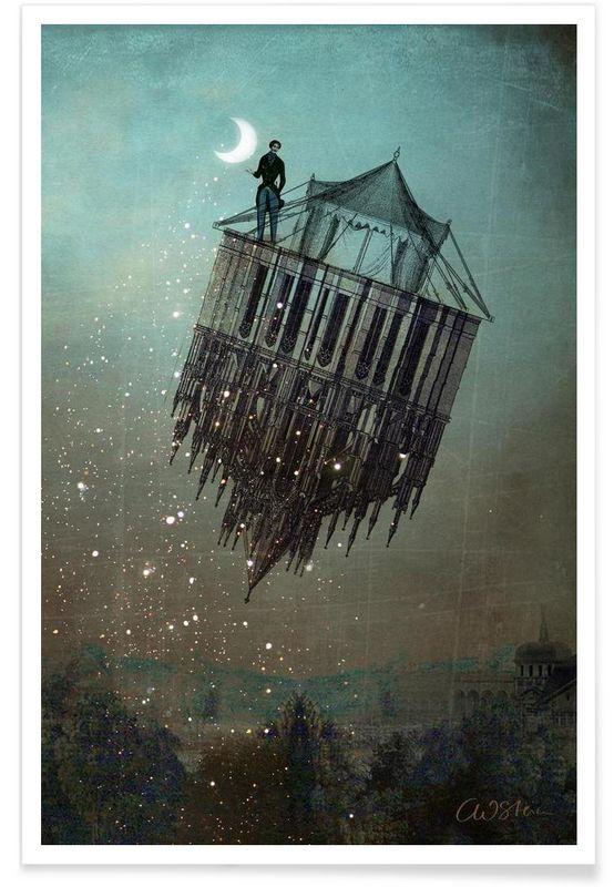 Sand Man als Premium Poster von Catrin Welz-Stein | JUNIQE