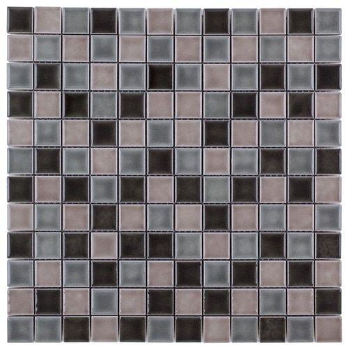 Ceramic Mosaic Tile Moderne Cafe Blend 1x1 Tiles Ceramic Mosaic Tile Mosaic Tiles