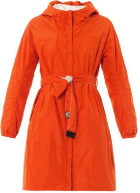 Spring showers call for a waterproof cover-up like this Lighte coat from MaxMara 'S Max. The bright orange hue is sure to get you noticed while the reversible neutral side creates a more toned-down look. It also comes complete with two optional belts so you can mix and match.