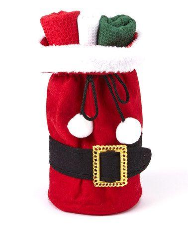 Love this Santa Suit Hand Towel Gift Set on #zulily! #zulilyfinds.  $12.99