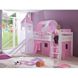Loft Beds Play Beds With Slide Beds Loft Play Slide In 2020 Bed With Slide Play Beds Kids Bed Canopy