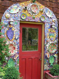 porta com mosaico
