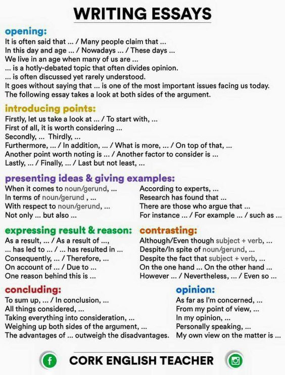phrases for essay writing