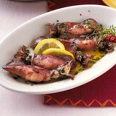 Gegrillte Tintenfischchen