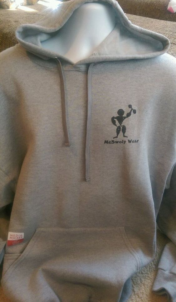 McSwoly Wear Weights Exercise Workout Funny Hoodie Pullover Sweatshirt 2X #Unbranded #Hoodie