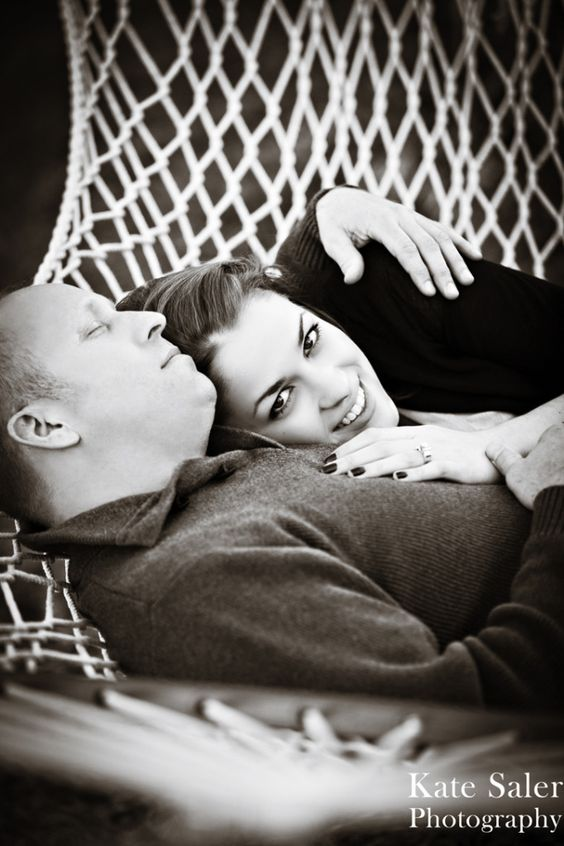 Romantic hammock engagement photo. :)