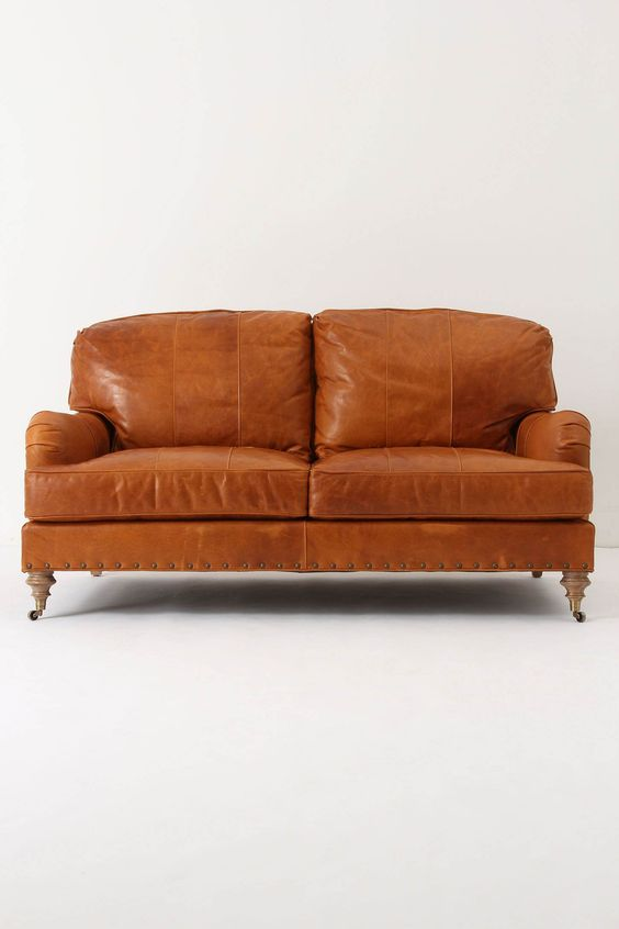 mmmm leather couch