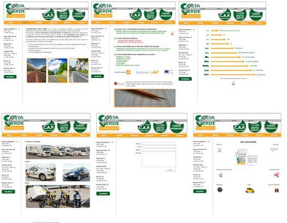 Pag web Autoescuela Costaverde by alberto vega diseño gráfico & web, via Flickr