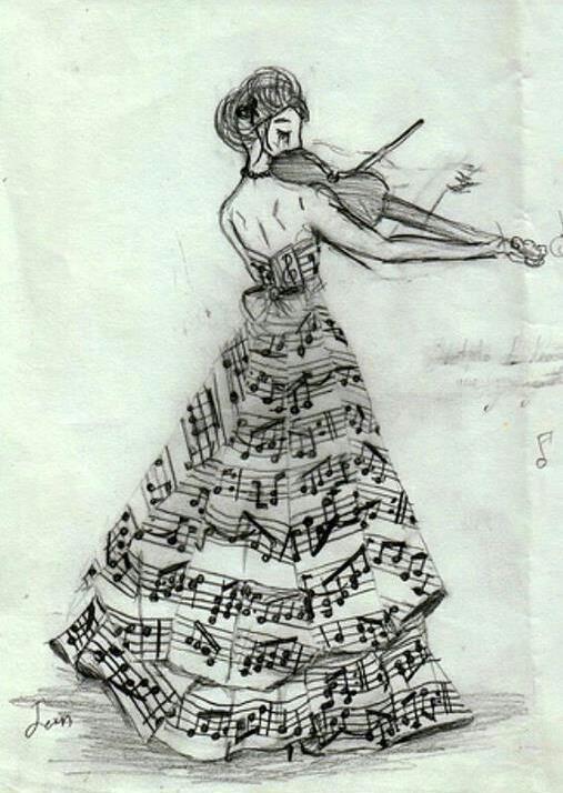 Resultado de imagem para notas musicais no voando, orquestra