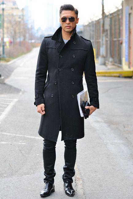 Black coat. | Good man | Pinterest | Coats &amp jackets Black coats