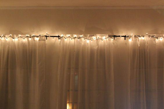 I like the idea of romantic lit curtains Eastern Inspiration